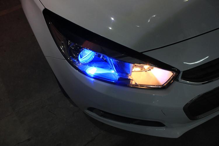 雪佛兰科鲁兹车灯改装进口海拉5透镜