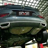 帝豪GS改装中尾段可变阀门四出排气安装作业