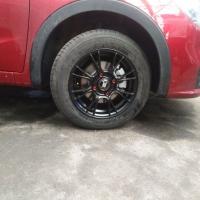 宝骏310改装极速轮毂KX2797 15寸 半亚黑