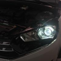 雪铁龙C4车灯改装升级海拉5双光透镜