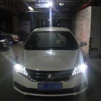 众泰z300车灯改装升级海拉5双光透镜
