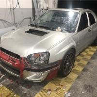 汽车喷漆:斯巴鲁WRX进化STI整车改亮黑