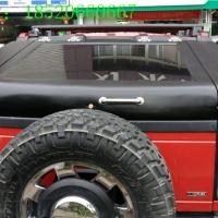 悍马H2改装后尾箱盖加装越野尾箱盖行李