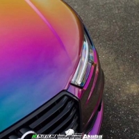 奥迪A6L超级变色龙梦幻星河汽车改色贴膜