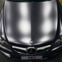 奔驰E200车身改色贴膜电光碳灰案例