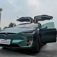 特斯拉MODEL X改色电光宝石绿案例