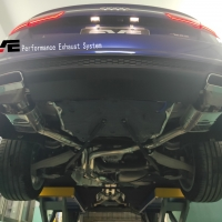 18款奥迪A6L运动版改装中尾段阀门排气