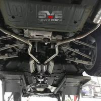 凯迪拉克CT6改装SVE中尾段阀门双边四出排