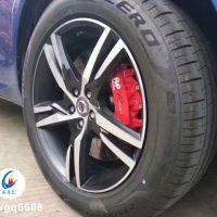 沃尔沃xc60升级英国AP9560红色套装刹车卡钳鲍鱼刹车改装升级
