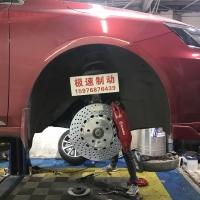 荣威ei6刹车改装Brembo F50大四活塞刹车卡钳套装