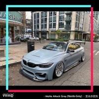 亚光水泥灰Matte Attack Grey全球时尚汽车贴膜品牌,顶级车身改色贴膜一一VViViD