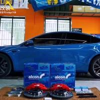 【刹车改装卡钳】特斯拉刹车升级ALCON RC6刹车卡钳改装案例图