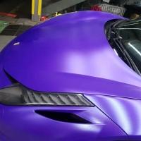 法拉利458贴膜改色电光紫-腾峰汽车俱乐