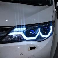 丰田RAV4大灯总成改装海拉5透镜氙气灯