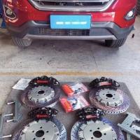 福特锐界,刹车升级brembo前六后四搭配BELFE高碳碟套装[愉快]