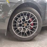 保时捷macan 刹车升级前轮Brembo v6套件! 上车轮毂饱满