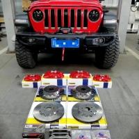 牧马人刹车升级AP85前六后四套装,提升制动力,颜值升级!