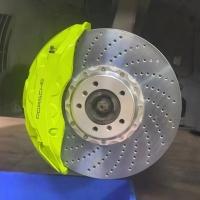 保时捷 帕拉梅拉 升级阿基波罗10活塞搭配420碟盘刹车套装!