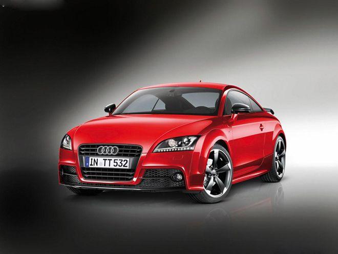 外观方面,奥迪tt s-line采用的是红色的车身涂装,整车加入运动高清图片
