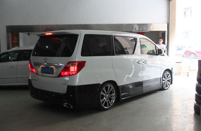 商务车也疯狂--丰田埃尔法改黑色包围