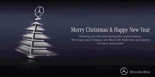 过节晒创意 汽车品牌圣诞营销广告一览
