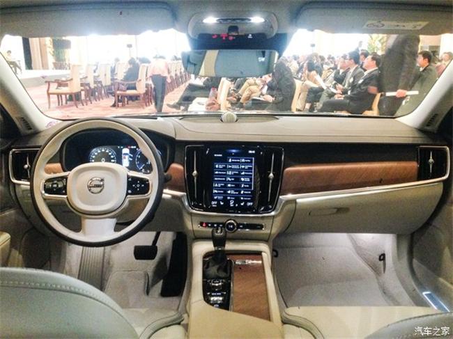 国产沃尔沃S90内饰-或年底进口 沃尔沃S90实车国内亮相高清图片